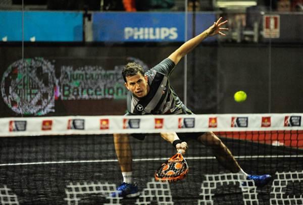 Paquito Navarro, durante uno de sus partidos del torneo.   WPT