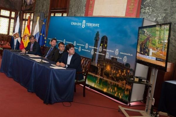 Rueda de prensa sobre el Parque Científico y Tecnológico de Tenerife. | EP