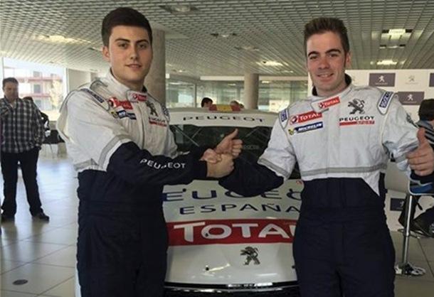 José Antonio Suárez y Pepe Lopez formarán parte del Peugeot España Racing Team en la 208 Rally Cup.   DA