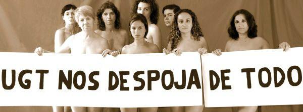 Trabajadoras de Fundescan protestan desnudas para reclamar su dinero. / DA