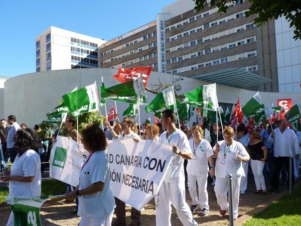 Las movilizaciones comenzarán el martes con un paro de 15 minutos en el Hospital de la Candelaria. / DA
