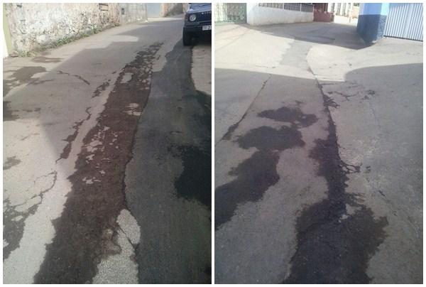 Por y Para el Pueblo denuncia que la calle ha quedado destrozada. / DA