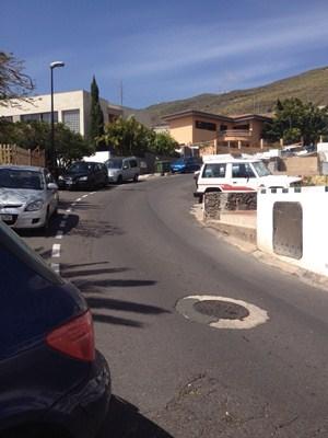 La calle de Inglaterra, clave en Tabaiba Baja, no tiene ni aceras . / DA