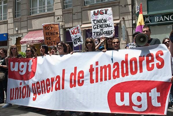 Imagen de archivo de las protestas de un grupo de trabajadores afectados por la quiebra. / DA