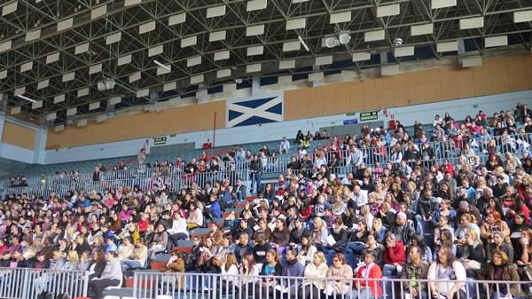 El sorteo se celebró en el Pabellón de Deportes de Santa Cruz. / DA