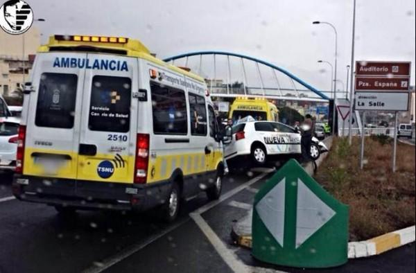 Accidente a la altura de Chamberí. | BOLORINO ARMANI