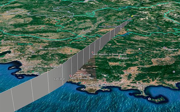 Ruta 3D del avión. / FlightAware
