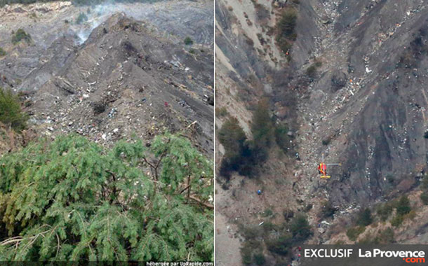 Primeras imágenes de los restos del avión