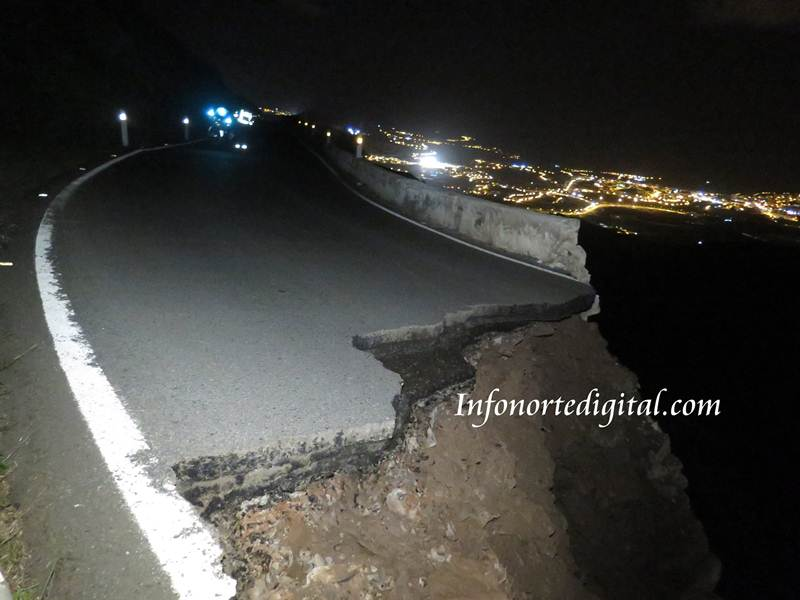 Imágenes de la carretera hundida. | infornortedigital.com