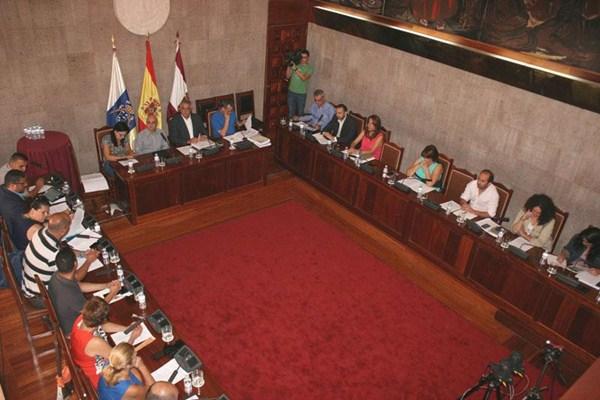 El Pleno se distinguió ayer por la unanimidad de los acuerdos. / DA