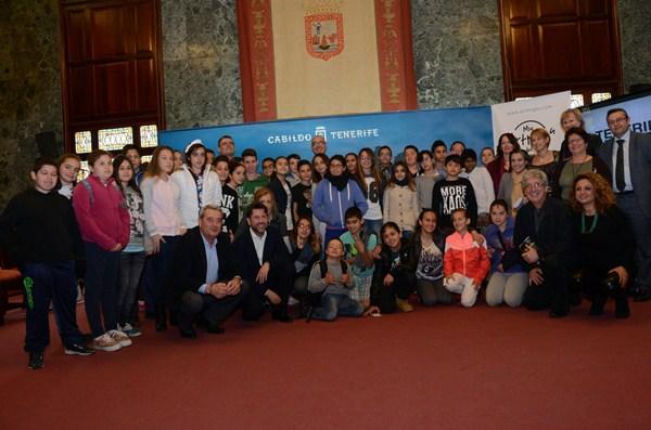 El novedoso proyecto de los escolares portuenses fue presentado ayer en el Cabildo. / DA
