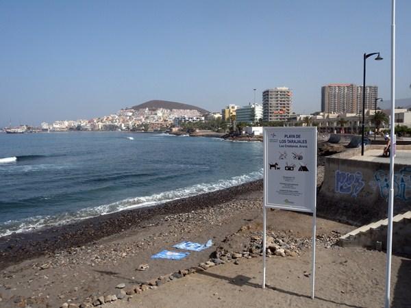 Vista de la playa de Los Tarajales, en Los Cristianos. / DA