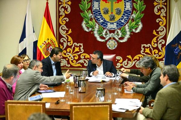 La Comisión de Control se celebró, ayer, en el Ayuntamiento. / S. M.