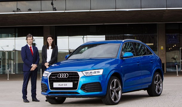 Fernando Ramírez, Gerente de Audi Canarias, y Arminda Domínguez, Product Manager del Audi Q3. | DA