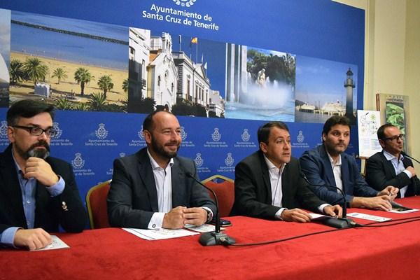 Lucas Balboa, Fernando Ballesteros, José Manuel Bermúdez, José Ángel Martín y Juan José Herrera. / DA