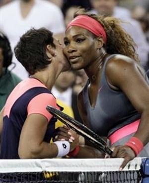 Carla Suárez y Serena Williams