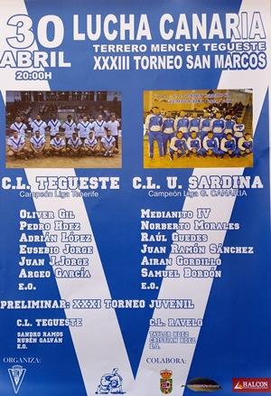 Cartel Torneo de San Marcos de Lucha Canaria