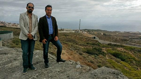 Eric Viana y Jordi Esplugas visitaron la vía una vez abierta al tráfico. / DA