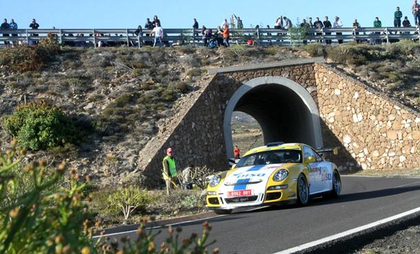 Enrique Cruz (Porsche) durante el Rally Villa de Adeje. | DA