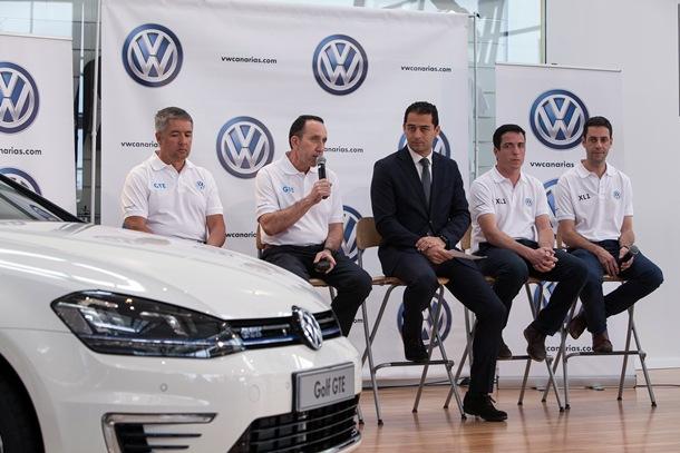 Rueda de prensa del equipo Volkswagen Canarias que participará en el Eco Rally.