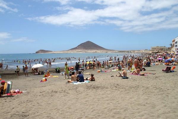 La playa de El Médano, uno de los atractivos turísticos del municipio. / DA
