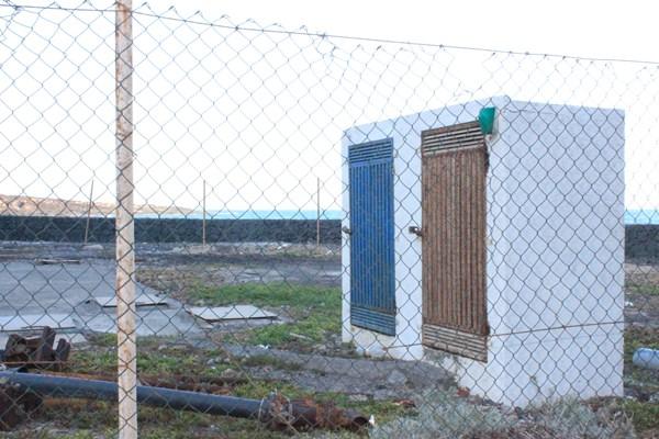 La estación de bombeo Edelmira Pérez Campos se encuentra en un estado lamentable. / DA