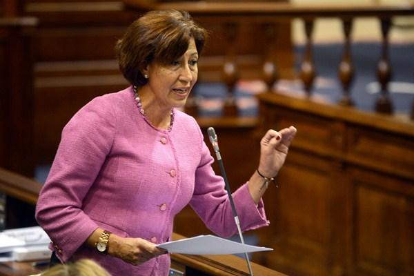 Inés Rojas, durante una intervención en el Parlamento. / SERGIO MÉNDEZ