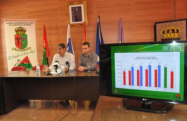 Ignacio Rodríguez y Sergio Lucas, durante la rueda de prensa ofrecida ayer sobre el IBI. | DA