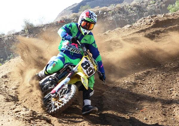 Jonay Rodríguez venció en la categoría MX1 en la prueba disputada en San Miguel. | G.Z.