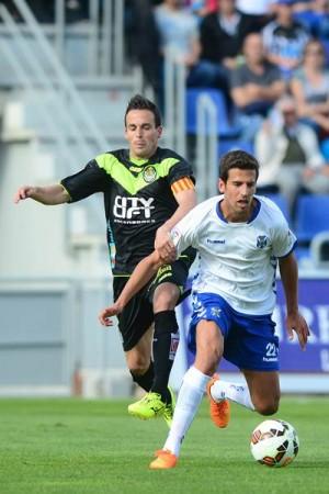 El atacante gallego confía en las posibilidades del equipo insular en la recta final de la competición. | S. MÉNDEZ