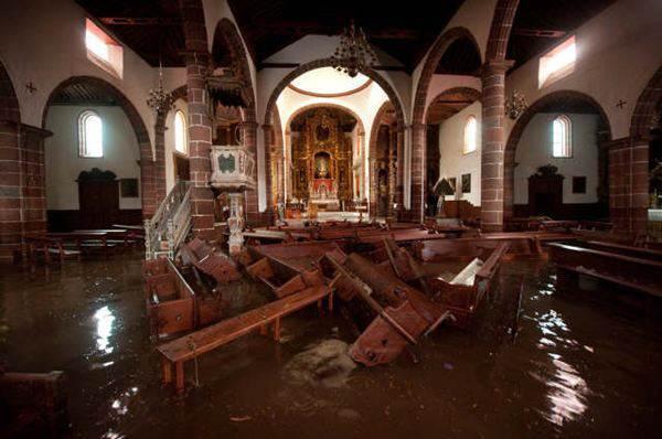La lluvia afectó gravemente a inmuebles como el de la Concepción. | F. P.