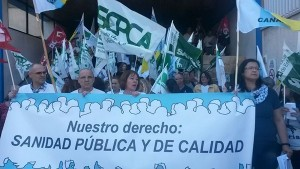 Más de un centenar de personas se movilizaron en La Candelaria. / SATSE