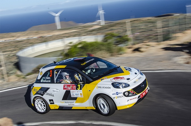 Opel Motorsport Team Spain en el Rally Villa de Adeje Esteban Vallín y Odriozola