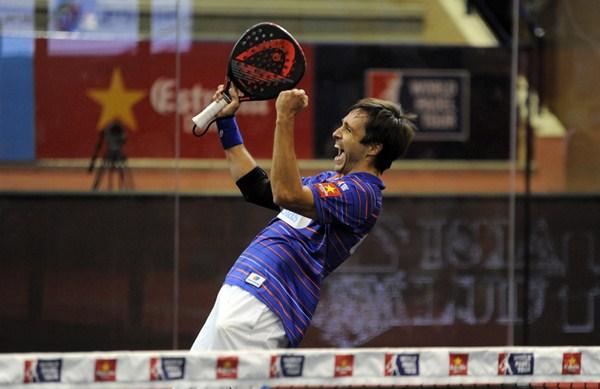 Fernando Belasteguín se apuntó su segundo torneo de la temporada en la despedida de Willy Lahoz. / WPT