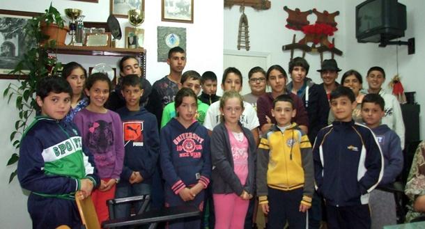 Participantes en la Liga Infantil de Arrastre de Ganado Trofeo Jacinto Abreu. | DA
