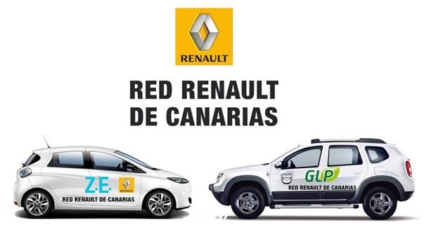 La Red Renault de Canarias participará con un Renault ZOE 100% eléctrico y un Dacia Duster GLP. | DA