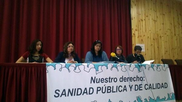 Representantes de los sindicatos del sector, ayer durante la rueda de prensa en Santa Cruz de Tenerife. / DA