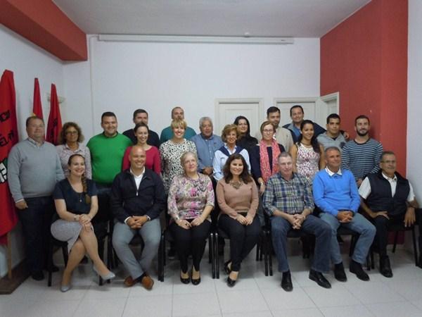 Mari Brito y los 23 que le acompañan en la plancha electoral. / DA