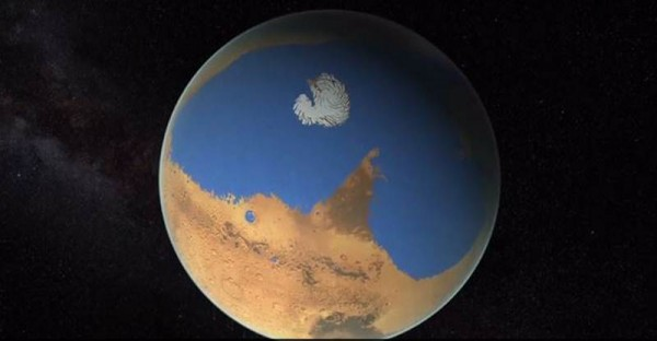 Simulación de Marte con un océano. | EP