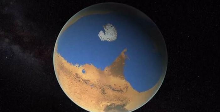 Marte pudo tener olas gigantes de lento desplazamiento