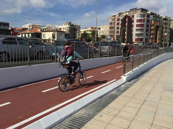 Un carril bici de Las Palmas de Gran Canaria. | CEDIDA