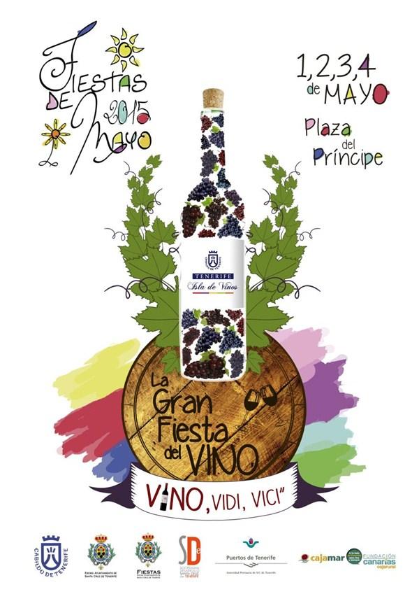 cartel fiesta del vino