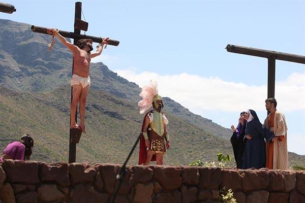 Representación de La pasión de Cristo en Adeje. / CEDIDA