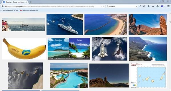 """Fotografías que se pueden encontrar en Google Imágenes al buscar """"Canarias"""", toda una invitación al turismo. / DA"""