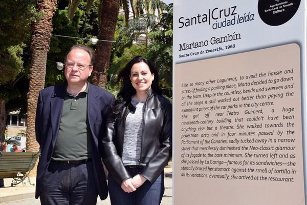 Eduardo García Rojas y Clara Segura, ayer en la presentación del proyecto. / DA