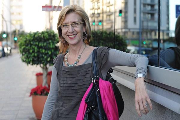 La fundadora de UPyD, Rosa Díez, durante una visita a Tenerife. / SERGIO MÉNDEZ