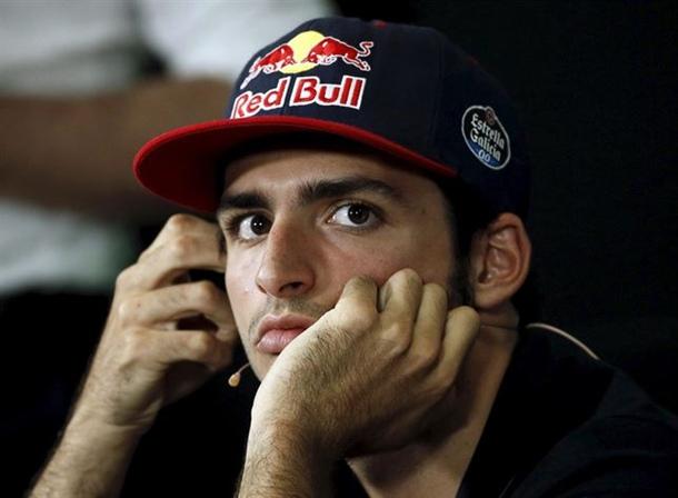 Carlos Sainz (Toro Rosso) en la rueda de prensa previa al Gran Premio de España.   REUTERS