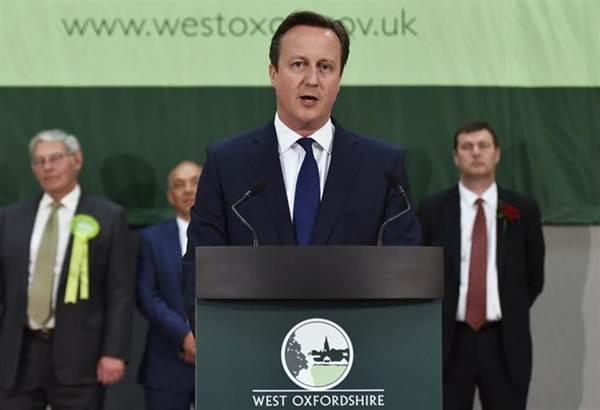 David Cameron tras ganar las elecciones en el Reino Unido. | REUTERS