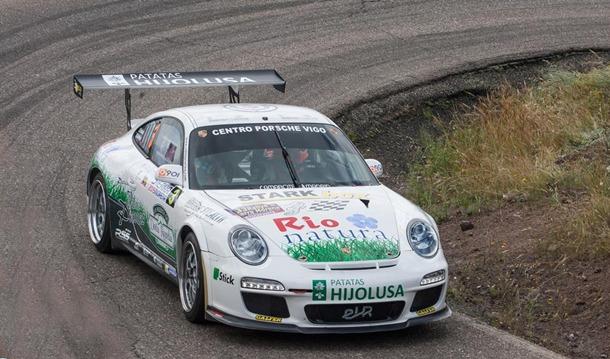 Sergio Vallejo durante el Rally Sierra Morena.   DA