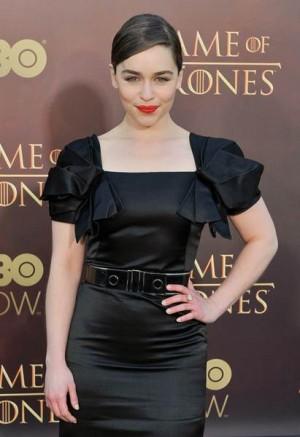 Emilia Clarke en la presentación de la última temporada de Juego de Tronos. | REUTERS